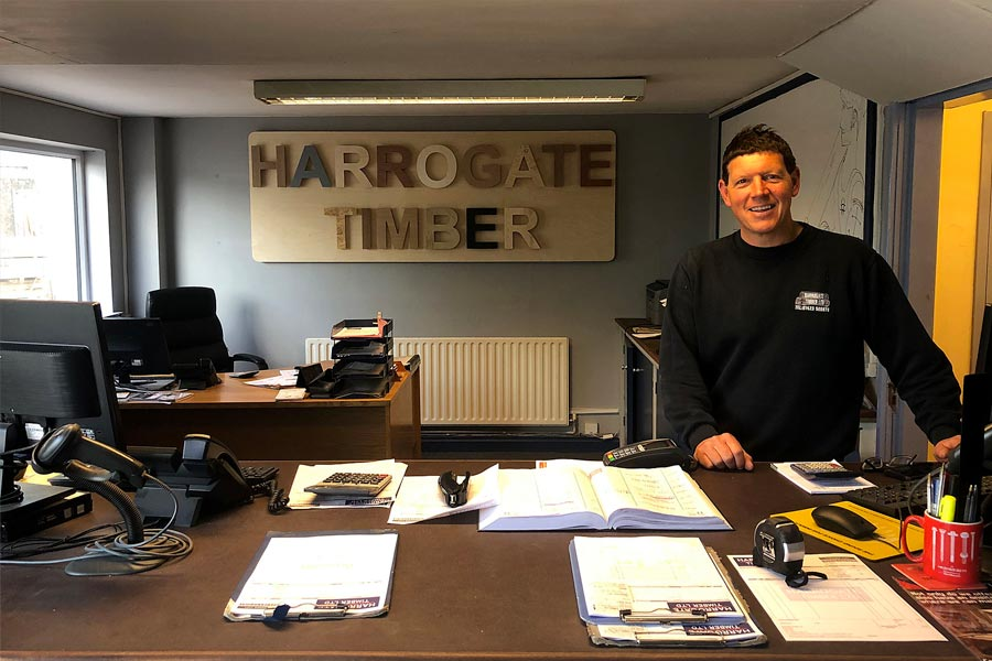 Harrogate Timber office sign